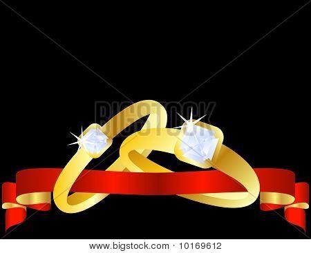 Set of Gold Wedding Bands