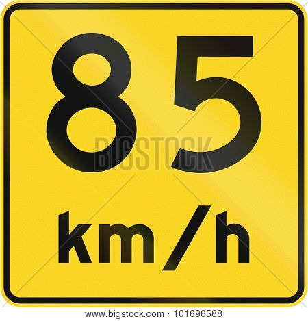 Speed Limit 85 Kmh In Canada