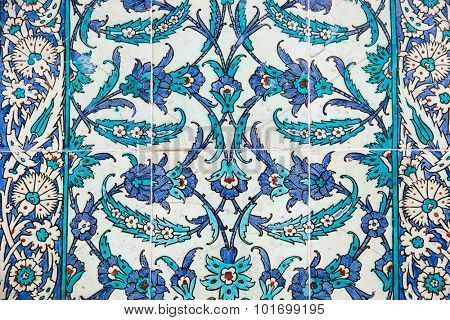 Historical traditional handmade tiles, more than 200 years old, Islamic ornaments