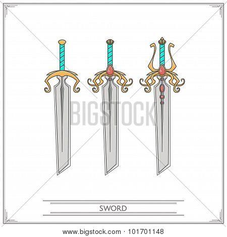 Bevelled Fantasy Sword