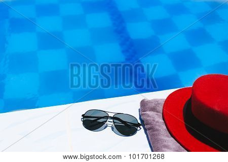 Beach Accessories By The Swimming Pool