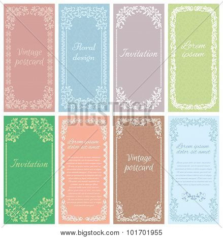 Set The Framework Of The Patterns In Vintage Style. Element For Design. It Can Be Used For Decoratin