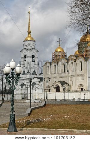 Vladimir, Russia - April 18, 2009: The Dormition Cathedral (assumption Cathedral) In Vladimir