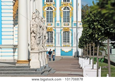 Tsarskoye Selo (Pushkin). Saint-Petersburg. Russia. The Catherine Palace