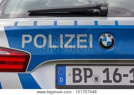 Detail Of A German Police Car