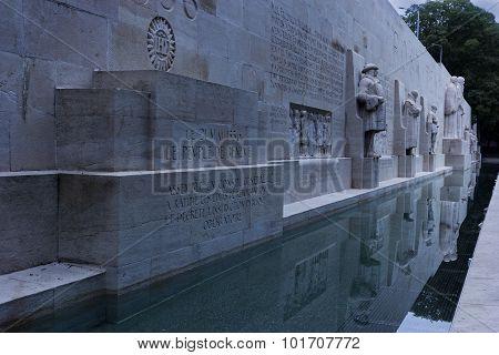 Reformation Wall In Geneva In Switzerland
