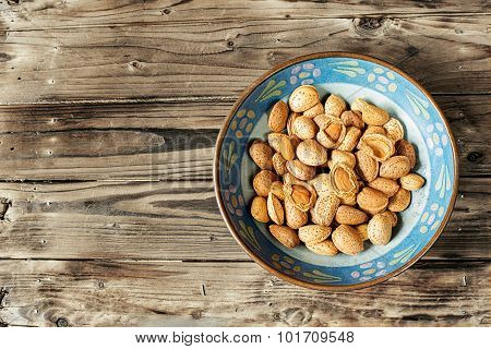 Raw Fresh Almonds.