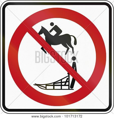 No Equestrians And Sleds In Canada