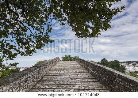 Old Arched Bridge Of Arta City, Epirus Greece.