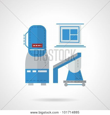Flat color MRI equipment vector icon
