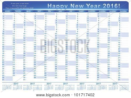 Calendar 2016 - English printable Organizer (planner)