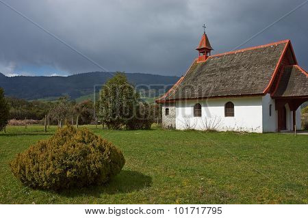 Rural Church in the Chilean Lake District