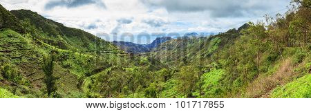 Panoramic  View Of Serra Malagueta Mountains In Santiago Island Cape Verde - Cabo Verde