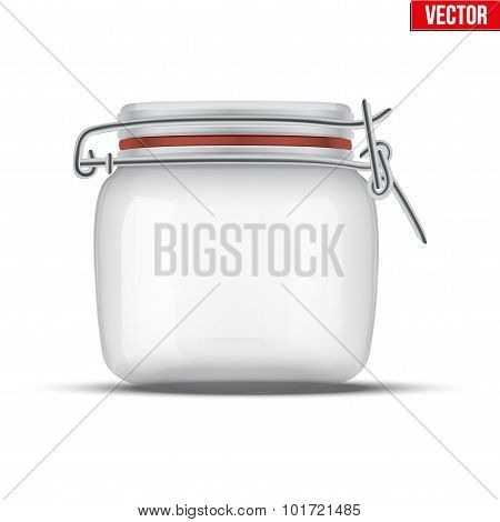 Glass Jar for canning and preserving.