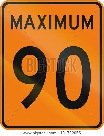 Temporary Maximum Speed 90 Kmh In Canada