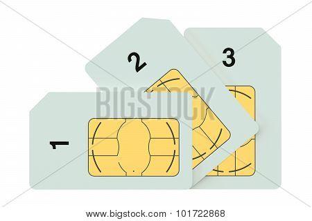 Three Sim Cards