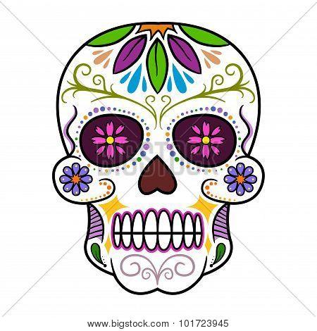 Colorful Traditional Sugar Skull
