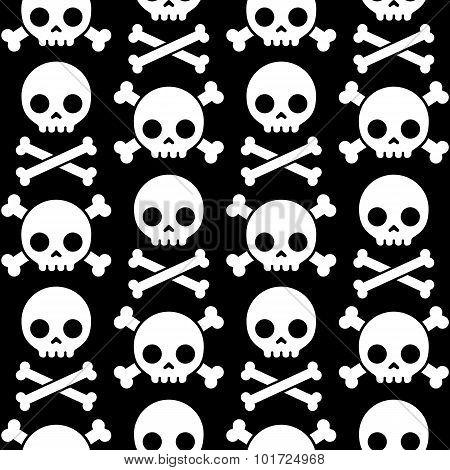 Skull And Crossbones Seamless Pattern