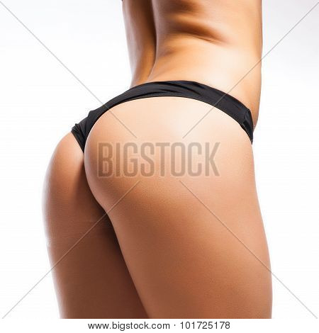 Sexy Curves Girl Butt, Without Cellulite