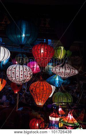 Night lanterns in old Hoi An town