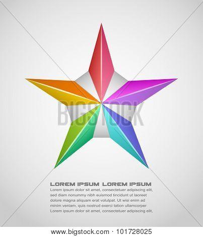 Vector illustration of star design element