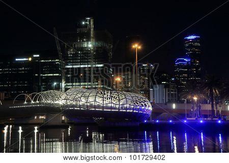 Melbourne modern architecture night cityscape Australia