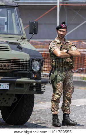 Italian Bersaglieri Soldier