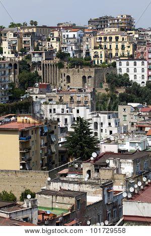Residental Neighborhood In Naples, Italy