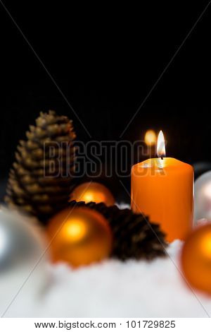 Festive Christmas Decoration In Orange