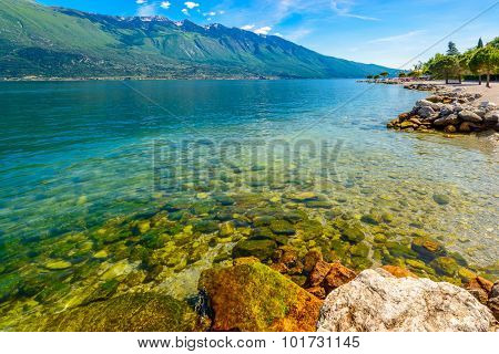 Beautiful peaceful lake Garda, Italy