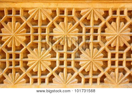 india ornate decoration background sandstone