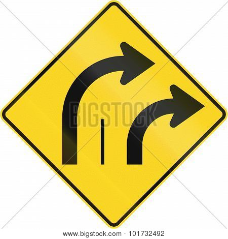 Two Lanes Turn Right In Canada
