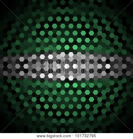 Emerald and Gray Hexagons Pattern Background