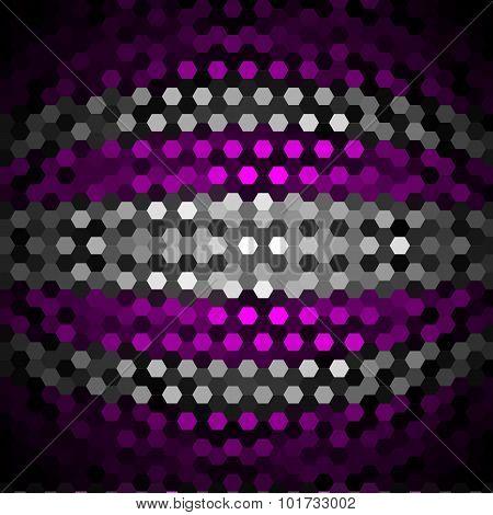 Fuchsia and Gray Hexagons Pattern Background