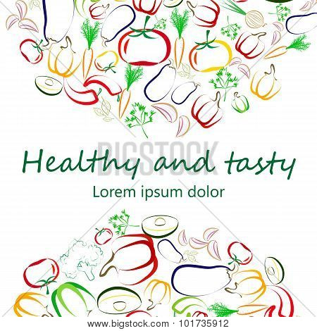 Healthy Eating concept square banner design