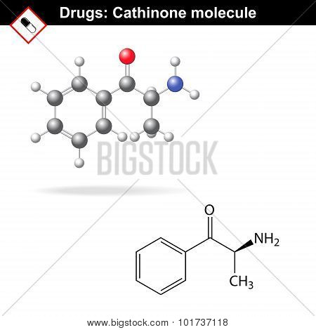 Cathinone Recreational Drug Structure