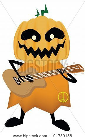 Vector - Pumpkin-headed skeleton