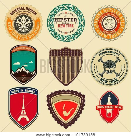 Retro Logotypes, identity, labels, badges, apparel, stickers and other branding objects.