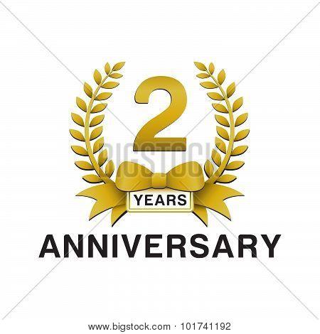 2nd anniversary golden wreath logo