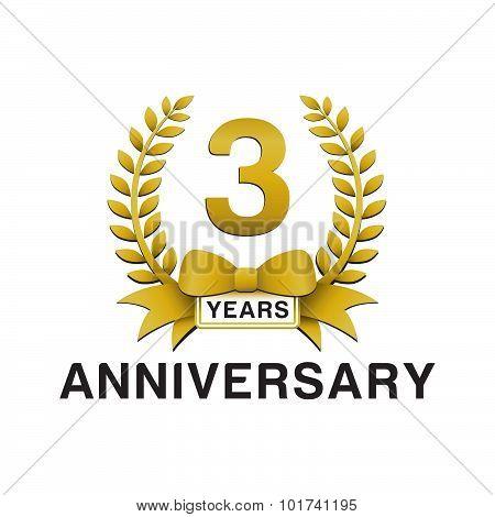 3rd anniversary golden wreath logo
