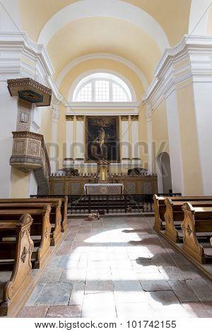 Interier Of St. Sebastiano's Chapel, Mikulov, Czech Republic