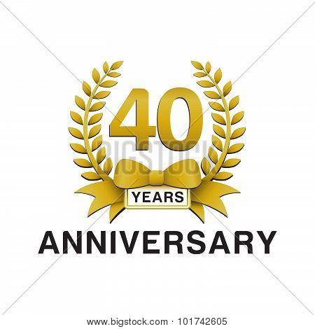 40th anniversary golden wreath logo