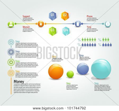 Vector colorful info graphics for your business presentations. Can be used for info graphics, graphic or website layout vector, numbered banners, diagram, web design.