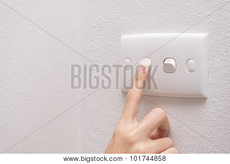 Press Turn On/off Electrical Switch