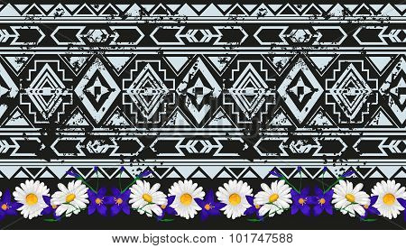 Vector ethnic seamless pattern american traditional ornament