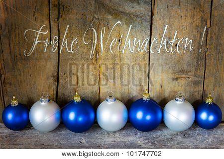 Christmas Postcard With Balls