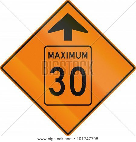 Temporary Maximum Speed 30 Kmh Ahead In Canada