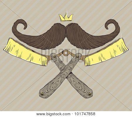 Mustache gold razor