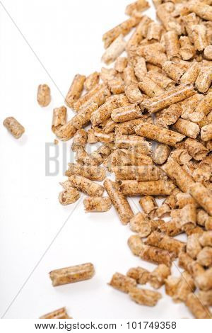 Energy. Pellets on the table