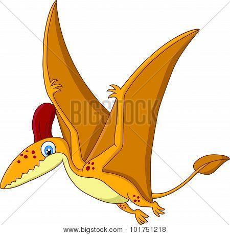 Cartoon Happy pterodactyl cartoon